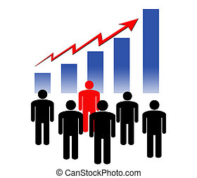 Financial growth - Group of people looking at the financial...