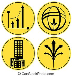 Financial Growth Icon Set