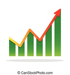 financial growth, infographic. Chart icon