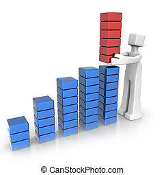 Financial growth performance and success - Businessman...