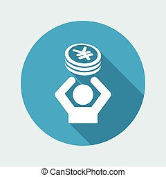 Financial help - Vector web icon