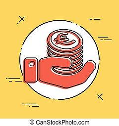 Financial icon - Euro