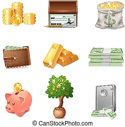 Financial Icons Set - Financial decorative icons set with ...