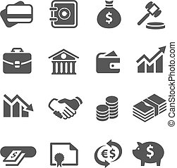 Financial icons set. - Simple financial icons. A set of 16...