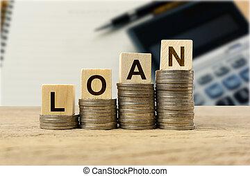 Financial loan concept.