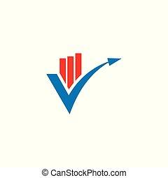 Financial logo design.