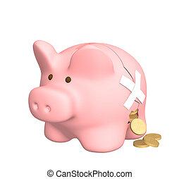 Financial losses - Conceptual image - financial losses. 3d...