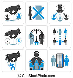 Financial, Management and Business Vector Icons