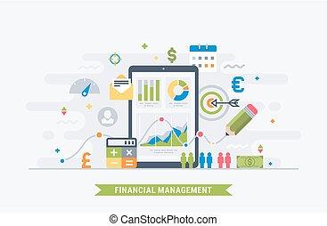 Financial management flat illustration