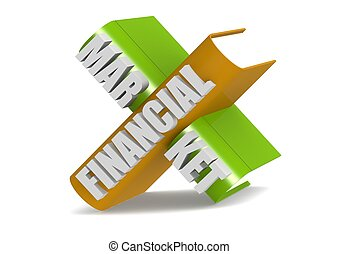 Financial Market - Rendered artwork with white background