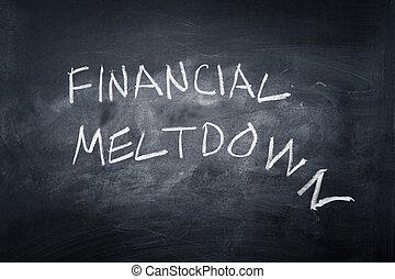 Financial Meltdown - Financial meltdown written on a ...