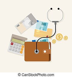 financial money management checkup planning assesment vector