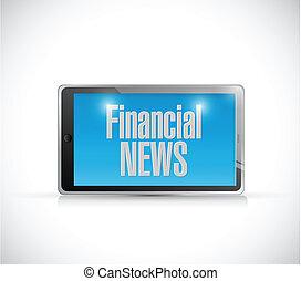 financial news tablet illustration design
