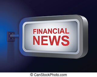 financial news words on billboard