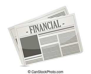 financial newspaper illustration design over a white background