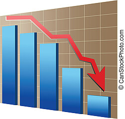 Financial or economic crisis - Financial crisis illustration...