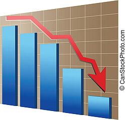 Financial or economic crisis - Financial crisis illustration...