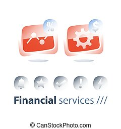 Financial performance report, money work, investment...