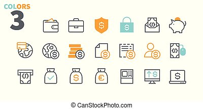 Financial Pixel Perfect Well-crafted Vector Thin Line Icons 48x48 Ready for 24x24 Grid for Web Graphics and Apps with Editable Stroke. Simple Minimal Pictogram Part 2