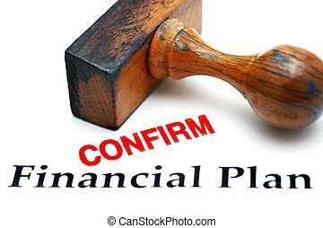Financial plan confirm
