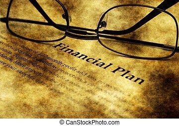 Financial plan grunge application