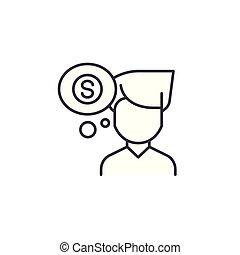 Financial plan linear icon concept. Financial plan line vector sign, symbol, illustration.