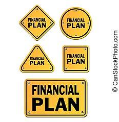 financial plan signs