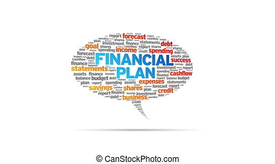 Financial Plan - Animated rotating Financial Plan Speech...