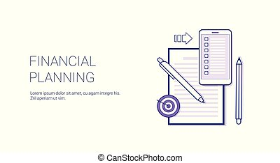 Financial Planning Business Concept Template Web Banner With Copy Space