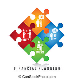 financial planning illustration over white background