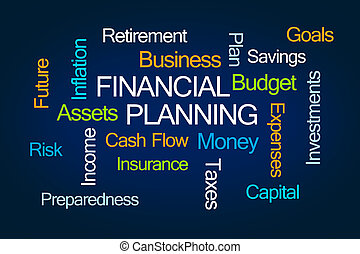 Financial Planning Word Cloud