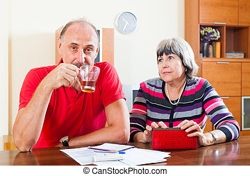 Mature couple did not have the money on your loan repayments...