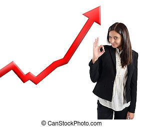 Financial profits of Businesswoman