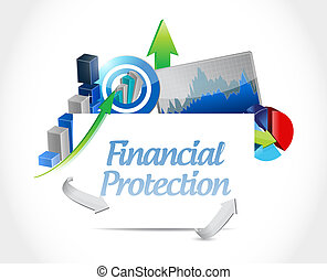 Financial Protection business sign concept