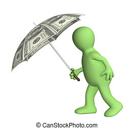 Conceptual 3d image - financial protection