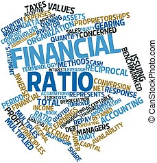 Financial ratio - Abstract word cloud for Financial ratio...