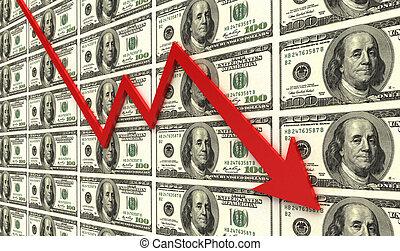 Financial Recession  - Business graph concept images