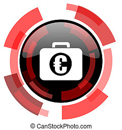 financial red modern web icon
