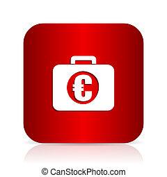 financial red square modern design icon