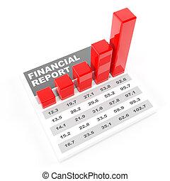 Financial report, 3d render