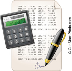 Financial Report. Accounting. Vector illustration.