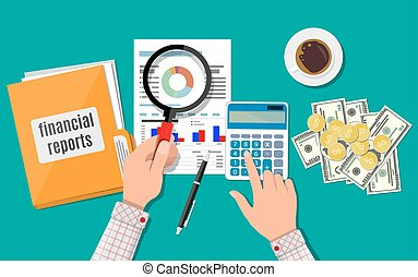 Financial report concept. Business background
