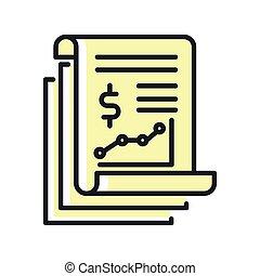 financial report icon color