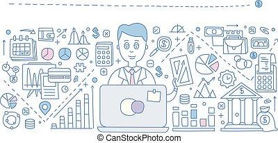 Financial Report Infographics. Vector Illustration