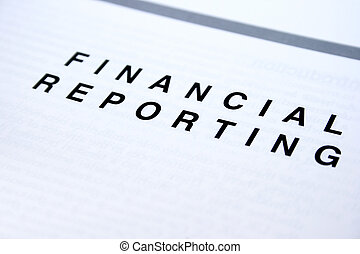 Financial reporting  document, white paper.