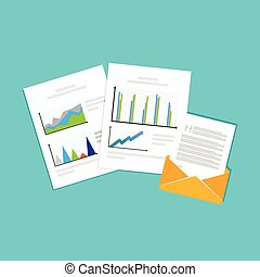 Financial reports. Business documents.