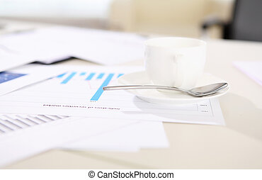 financial reports on the desk