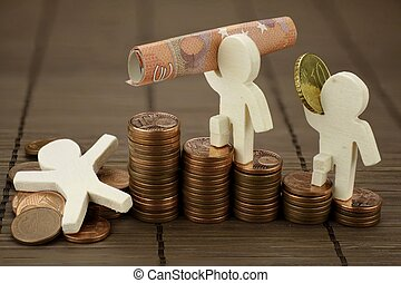 Financial rise and fall - Symbolic representation with...