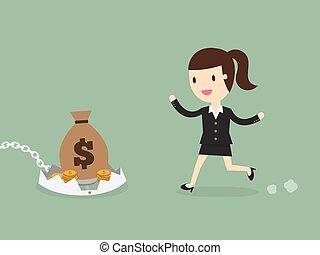 Financial risk concept