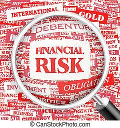 FINANCIAL RISK. Word cloud illustration. Tag cloud concept...